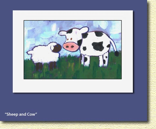 sheep & cow